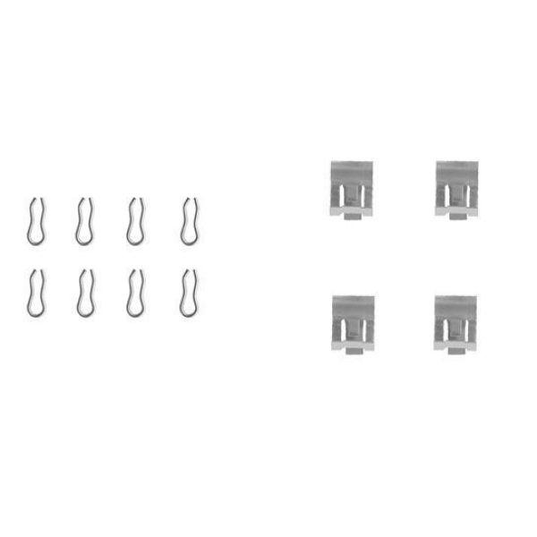 Remblok-montageset voorzijde LANCIA Y10 1.1 Fire Vierwielaandrijving