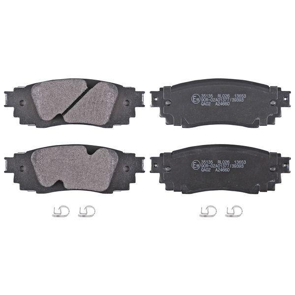 Remblokkenset achterzijde originele kwaliteit LEXUS RX 200t AWD