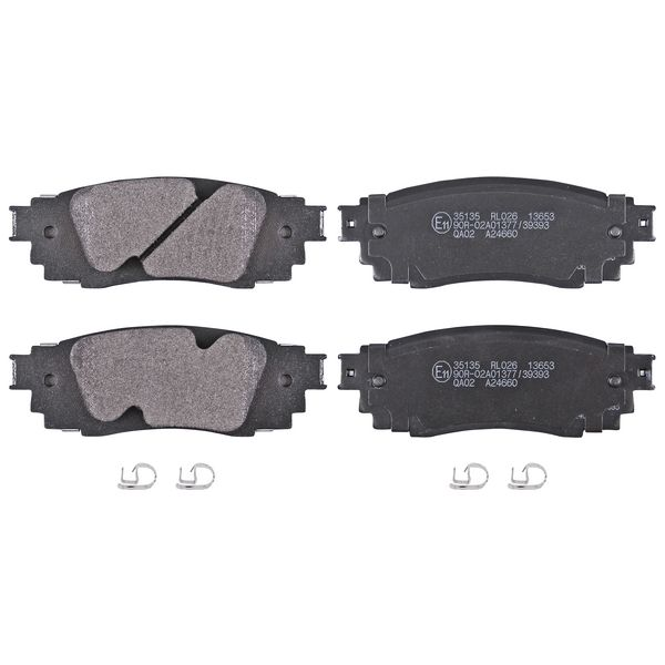 Remblokkenset achterzijde originele kwaliteit LEXUS RX 450h