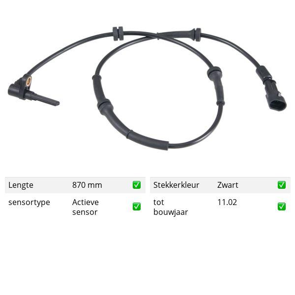 ABS-sensor voorzijde, links ALFA ROMEO 156 2.0 16V T.SPARK